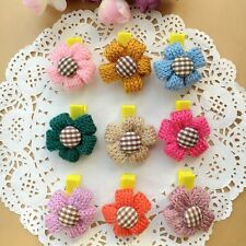 9pcs/lot Colorful Flower Kids Baby Girls Hair Clips HairPins Hair Accessories