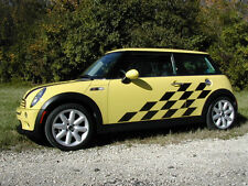 Mini Cooper Racing Check SIDE Graphics set Decals Decals Graphic ALL YEAR MODEL