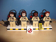 LEGO Ghostbusters FULL TEAM Ray Peter Egon Winston ! #21108 Mint Minifig lot