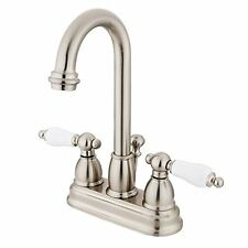 KNGB-KB3618PL-Kingston Brass KB3618PL Restoration Deck Mount Lavatory Faucet wi
