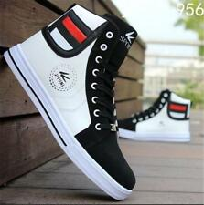 Mens Round Toe High Top Sneakers Casual Lace Up Skateboard Shoes AU Size Suave