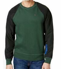 Men's TOMMY HILFIGER Russell Mixed-Media Sweatshirt Crew Neck Pullover Green
