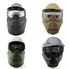 Tactical Airsoft Paintball CS GAME Party WARGAME Face Guard Mask with Goggles