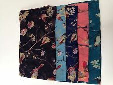 New Ladies Girls Classy  Birds & Flowers Design Scarf Wrap Shawl Retro Fashion