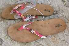Womens Mossimo Odele Flip Flops Floral Pink Size 6/ 7 / 11 NEW