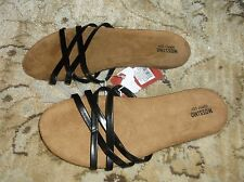 Womens Mossimo Oda Flip Flops Black Size 6 or 11 NEW