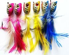 6 New Generation Quality Surf Poppers medium sized fishing lure !