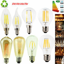 E12 E27 E14 Dimmable 2/4/6/8W LED Bulb Light Edison Retro Vintage Filament Lamps