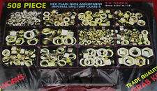 New- Flange Nut 160pc or Hex Plain Nuts 508pc