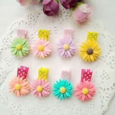10pcs/lot Cute Daisy Flower Kids Girls baby Hair Clips hairpins Hair Accessories