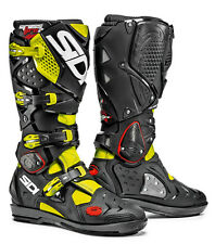 SIDI CROSSFIRE 2 SRS YELLOW FLUO/BLACK SIZE 41 MOTORCYCLE MOTORBIKE BOOTS
