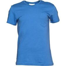 New adidas Neo ST Basic Mens Cotton Crew T-Shirt top Sz XL XXL Blue