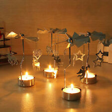 Rotating Spinning Tea Light Holder Christmas Candle Holder Table Party Decor