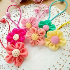 10pcs/lot Kids Baby Girls Flowers Elastic Hair Ties Bands Rope Ponytail Holders