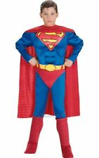 Childrens Superhero Deluxe Superman Boys Fancy Dress Kids Party Costume Outfit