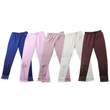 2-7Y Infant Kids Girls Baby Slim Pants Lace Skinny Stretchy Leggings Trousers