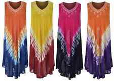 Ladies Womens Summer Floral Loose Fit Sleeveless Top Tie Dye Maternity Dress