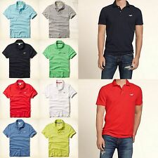 New Hollister by Abercrombie Men Muscle Fit Rocky Point Hawthorne Polo Shirt