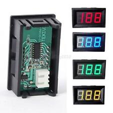 Motorcycle LED Panel 3-Digital Display Volt Voltage Meter DC 0-100V Voltmeter