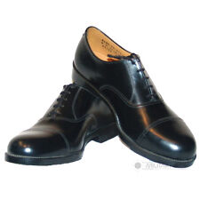 BRITISH ARMY MILITARY RAF BLACK LEATHER PARADE SHOES AIR CADETS STICHED TOE