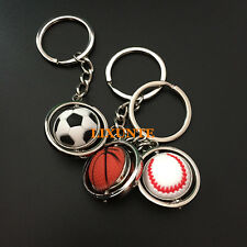 Cute Football Golf ball Baseball Basketball Keychain Key Ring Sport Souvenir CA