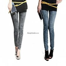 Sexy Womens Jeggings Stretch Skinny Leggings Jeans Pencil Pants Snowflake ESY1
