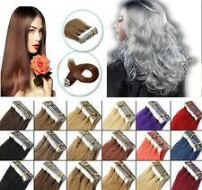18''-26''Seamless Skin Weft Tape In Remy Indian Real Human Hair Extensions 20pcs