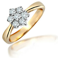 Jewelco London 18ct Gold Diamond 7 Stone Cluster Ring 50pts