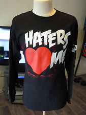 T-SHIRT MANCHE LONGUE CATCH WWE THE MIZ HATERS ME BLACK HOMME/MEN WRESTLE