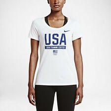 Nike Women's Dri Fit Cotton Team USA Olympic Training Center T Shirt  XS Small