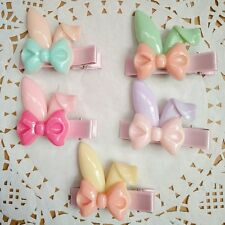 10pcs/lot Rabbit ears style Kids Girls baby Hair Clips hairpins Hair Accessories