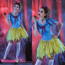 Ladies Halloween Zombie Snow White Horror Scary Princess Fancy Dress Costume