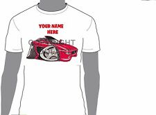 KOOLART FERRAR 355 SPYDER CARTOON STYLE PERSONALISED  T-SHIRT GIFT  PRESENT  323