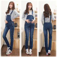 Pregnancy Maternity Jeans Overalls Dungarees Pants Trousers Cute M/L/XL/2XL