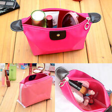 Fashion Candy Color Travel Cosmetic Pouch Bag Clutch Handbag Casual Red Purses