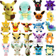Rare Pokemon Collectible Plush Soft Toy Eevee Pikachu Squirtle Stuffed Doll New