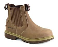 Sterling Safety S3 Slip On Boots Taupe Steel Toe Cap Work Industrial UK7