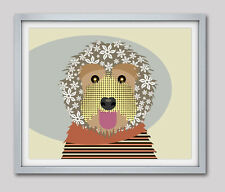 Print Labradoodle Print Dog Breed Art Puppy Dog Lover Animal Poster Painting
