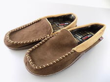 32 Degrees $85 MENS SHOES Synthetic Moccasin Slippers SZ 11-12 Brown TEXTILE S13