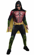 Robin Deluxe Muscle Superhero Batman Arkham City Men Costume