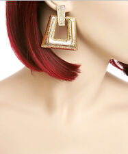 """EVE 2"""" TEXTURED GOLD or SILVER TONE METAL BUTTERFLY DROP DANGLE EARRINGS NEW"""