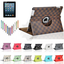 360 Rotating PU Leather Folio Smart Case Cover Stand For Apple iPad Mini 1 2 3