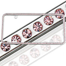License 2 Bling Swarovski Pink Crystal Rhinestone License Plate Frame 125