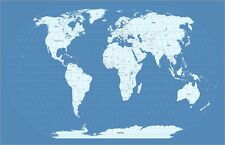 Map of the World Map Art Print Poster - u753