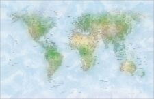 Map of the World Map Art Print Poster - u140