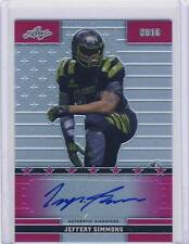 2016 Leaf Army JEFFERY SIMMONS Metal Pink Flag Autograph Auto 3/7 MISS. ST #51