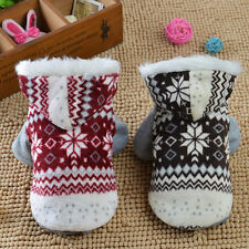 Dogs Cozy Snowflake Style Costume Two Feet Fashion Pets Jacket Teddy Hoodie BE
