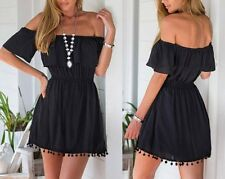 Fashion Women Casual Off Shoulder Cocktail Evening Party Beach Short Sexy Dress
