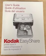 Kodak Easyshare Printer Dock Manual/User's Guide