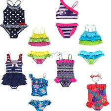 Girls Kid Two Piece Polka Dot Bikini Swimsuit Swimwear Bathers Swimmers 6M-10